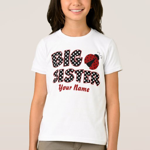 Big Sister Ladybug Personalized T-Shirt | Zazzle