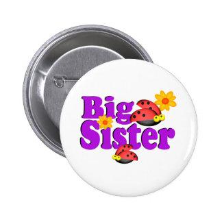 Big Sister Ladybug Pinback Buttons