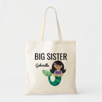 Big Sister Latina Hispanic Mermaid Faux Foil Girl Tote Bag