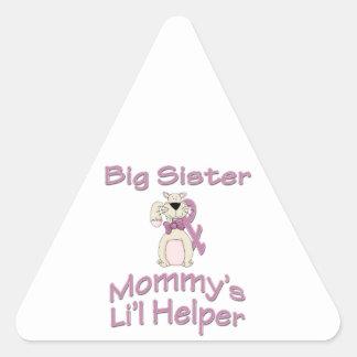 Big Sister Li'l Helper Cat Triangle Sticker