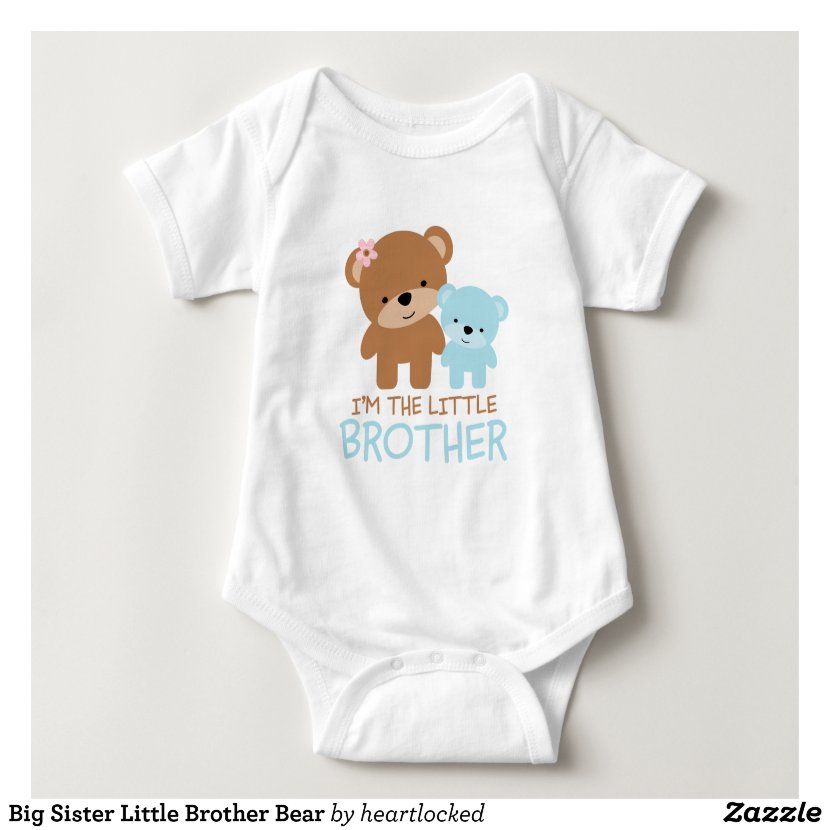Big Sister Little Brother Bear Baby Bodysuit