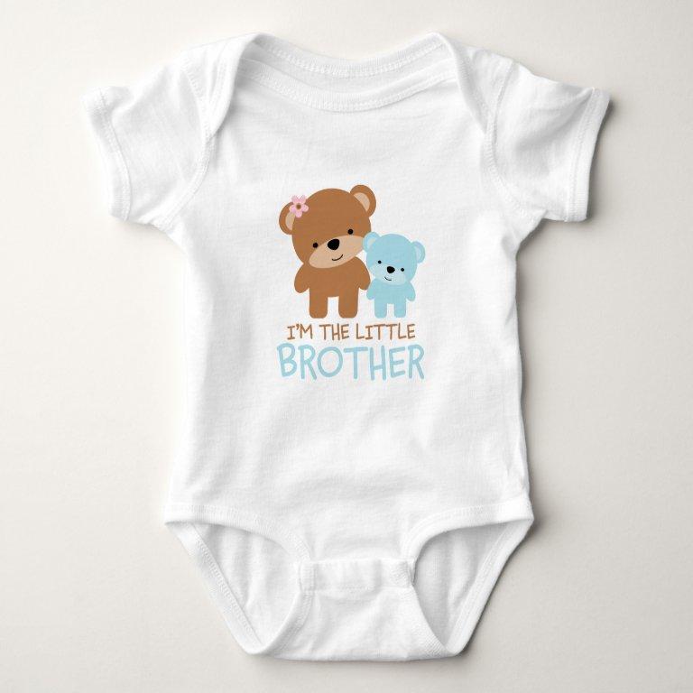 Big Sister Little Brother Bear Baby Bodysuit