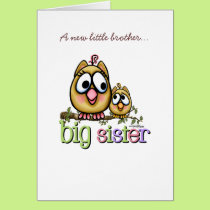 Big Sister - little Brother Card