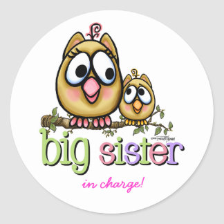 Big Sister - little Brother Classic Round Sticker