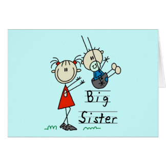 Big Sister Little Brother T-shirts and Gifts Greeting Card