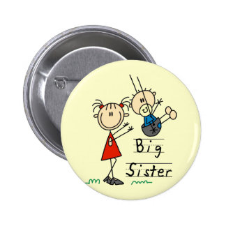 Big Sister Little Brother T-shirts and Gifts Pinback Button