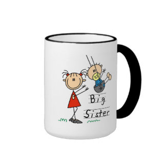 Big Sister Little Brother T-shirts and Gifts Ringer Coffee Mug