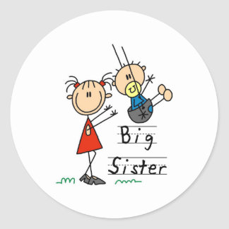 Big Sister Little Brother T-shirts and Gifts Classic Round Sticker