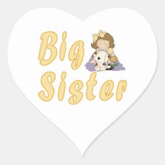 Big Sister Little Friends 2 Heart Sticker