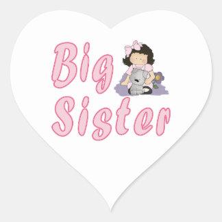 Big Sister Little Friends 3 Heart Sticker