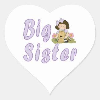 Big Sister Little Friends 4 Heart Sticker