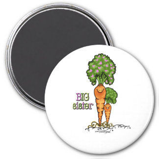 Big Sister - little sibling 3 Inch Round Magnet
