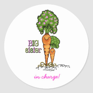 Big Sister - little sibling Classic Round Sticker
