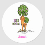 Big Sister - little sibling Round Sticker