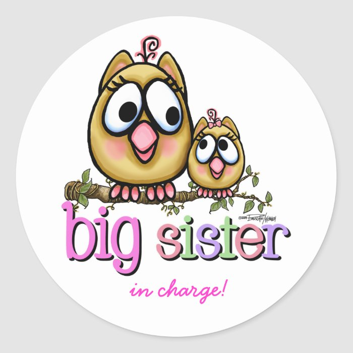 Big Sister little Sis Classic Round Sticker