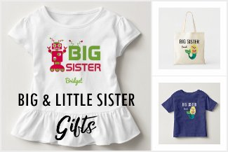 Big Sister Little Sister Family Gifts