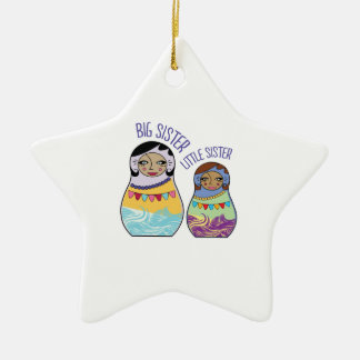 Big Sister Little Sister Christmas Tree Ornaments