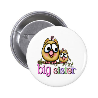Big Sister Little Sister Owls Button