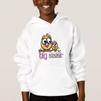 Big Sister Little Sister Owls Hoodie