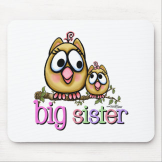 Big Sister Little Sister Owls Mouse Pad