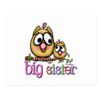 Big Sister Little Sister Owls Postcard