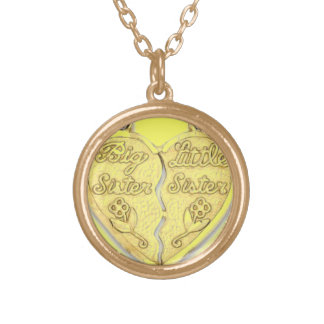 BIG SISTER LITTLE SISTER ROUND PENDANT NECKLACE