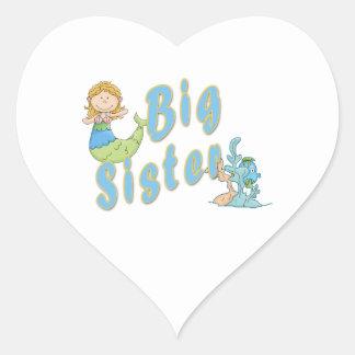 Big Sister Mermaid 1 Heart Sticker