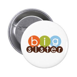big sister mod circles pinback button