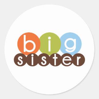 big sister mod circles classic round sticker