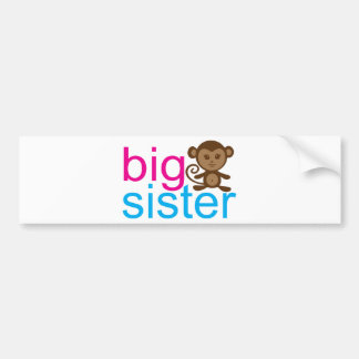 Big Sister Monkey Bumper Sticker