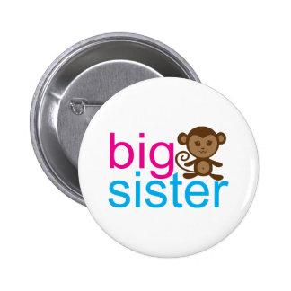 Big Sister Monkey Pinback Button