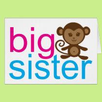 Big Sister Monkey Card