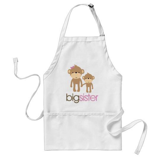 Big Sister Monkey Pregnancy Announcement T-shirt Adult Apron