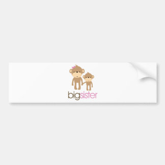 Big Sister Monkey Pregnancy Announcement T-shirt Bumper Sticker