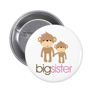 Big Sister Monkey Pregnancy Announcement T-shirt Pinback Button