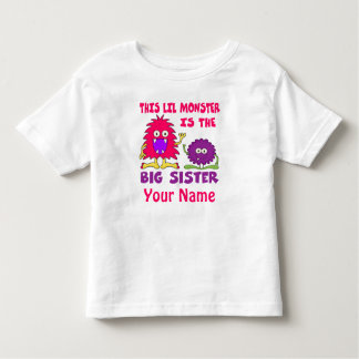 Big Sister Monster Personalized Shirt