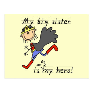Big Sister My Hero T-shirts and Gifts Postcard