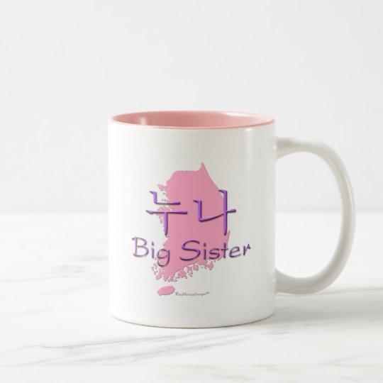 Big Sister (of a Boy) Korea Two-Tone Coffee Mug