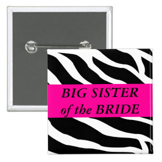 Big Sister Of The Bride Pinback Buttons