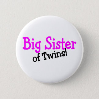 Big Sister Of Twins Button
