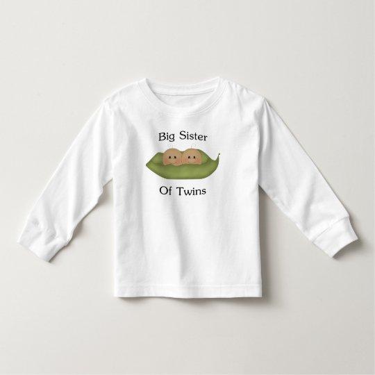 Big Sister Of Twins Toddler T-shirt