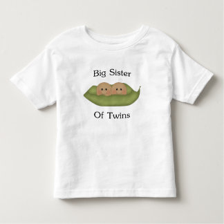Big Sister Of Twins Toddler T-shirt
