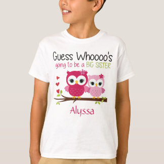 Big Sister Owl Personalized T-Shirt