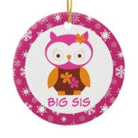 Big Sister Owl Sibling Keepsake Ornament Gift