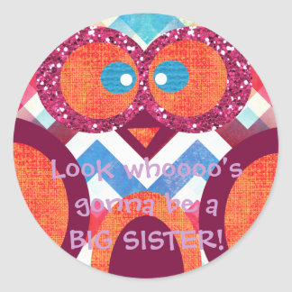 BIG SISTER Owl Sticker