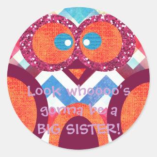 BIG SISTER Owl Sticker