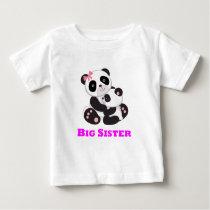 Big Sister Panda Baby T-Shirt
