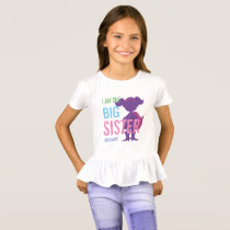 Big Sister Personalized Superhero Silhouette Girls T-Shirt