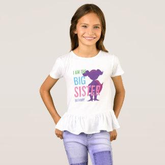 Big Sister Personalized Superhero Silhouette Girls T-Shirt