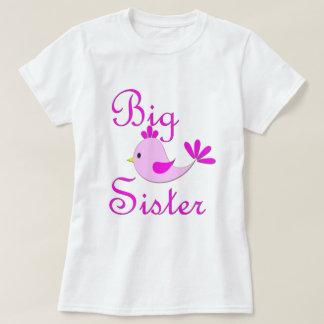 Big Sister Pink Bird T-Shirt